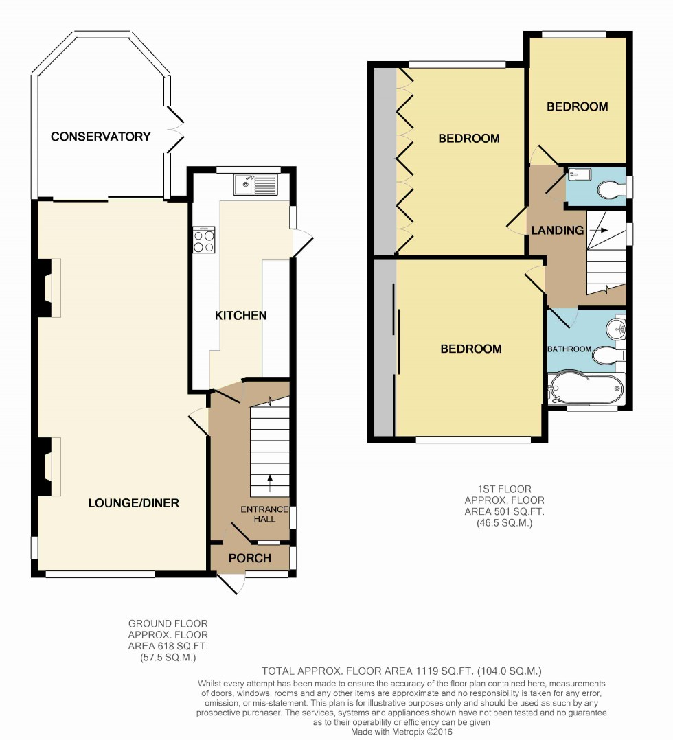 Floorplan for Lancing Road, Orpington