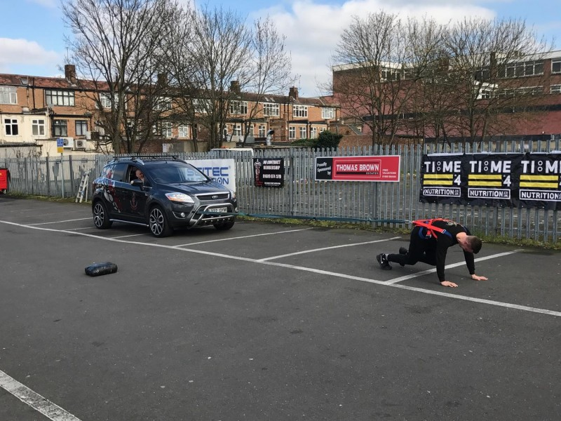 Thomas Brown Estates proudly sponsored the Ripped Muscle and Fitness gym Car Pull Challenge today in Orpington.